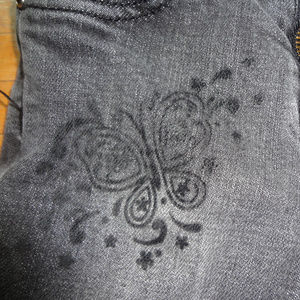 TCP Children's Place black skinny jeans butterfly